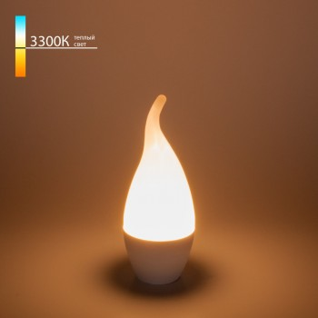 Светодиодная лампа elektrostandard свеча на ветру сdw led d 6w 3300k e14